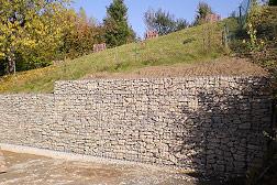 Gabionenmauer in Berthelsdorf